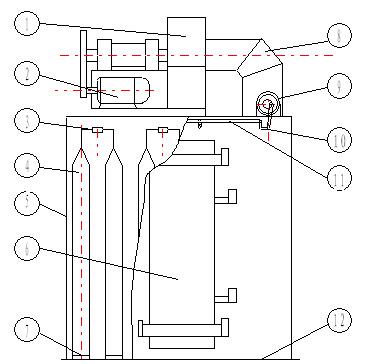 UF单机布袋除尘器构造图