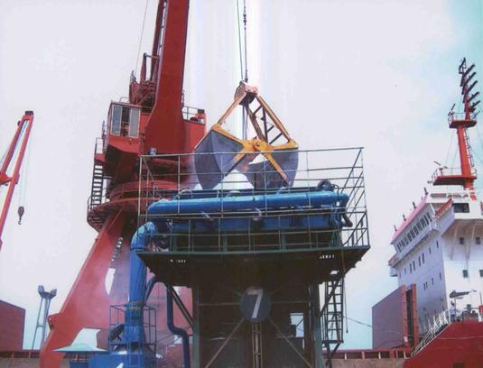 物料(散粮)卸船使用除尘系统效果
