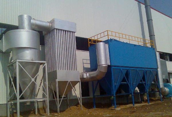 内蒙古硅锰冶炼项目矿热炉袋式除尘器施工现场