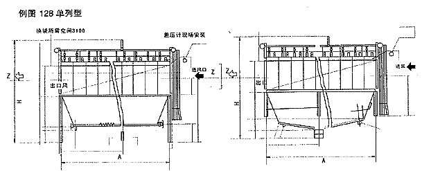 PPC气箱脉冲袋式除尘器外型尺寸图