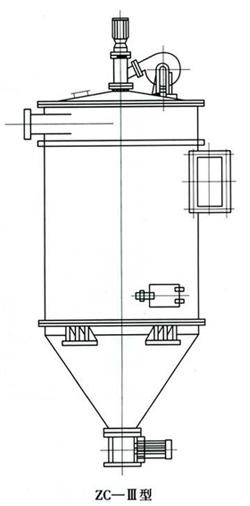 ZC机械回转反吹扁布袋除尘器外型图
