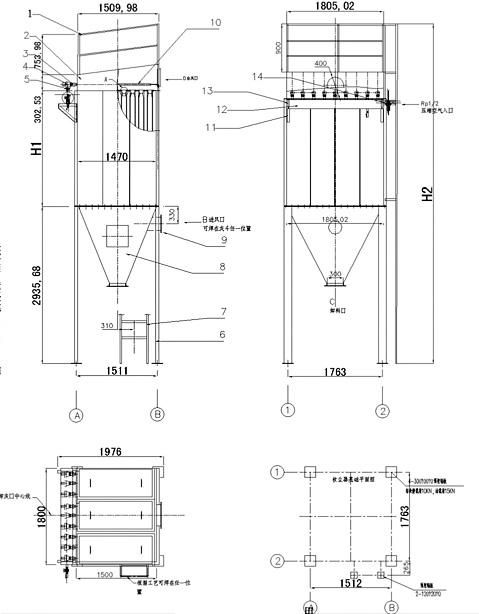 MC除尘器外型图